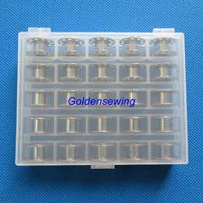 BOBBIN BOX + 25 BERNINA BOBBINS FOR ACTIVA, AURORA, VIRTUOSA 830,930,1230