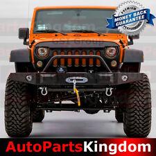 Rock Crawler Front Bumper+Bomp Guard+Fog Light Hole Fit 07-17 Jeep JK Wrangler
