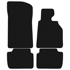 BMW 3 Series E46 2dr Coupe Rubber Tailored Black Car Floor Mats 4 Piece Set
