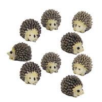 10pcs Miniature Doll House Bonsai Garden Fairy Landscape Hedgehog Decoratio V7I4