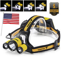 Super Bright 100000LM 3X XM-L T6 LED Headlamp Headlight Flashlight Head Torch