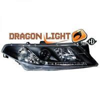 LHD Diseño Faro Delantero Par Led Dragon Claro Negro para Renault Laguna