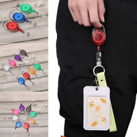 Clip Stationery ID Name Card Key Ring Lanyards Badge Holder Retractable