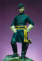 Union Cavalry Officer at American Civil War 54mm Tin Painted Toy Soldier   Art