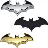 Chrom Metall Auto Motorrad Aufkleber Bat Batman 3D Flügel Embleme Sticker GE