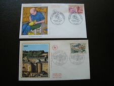 FRANCE - 2 enveloppes 1er jour 1971 (chambres metiers/chat sedan) (cy83) french