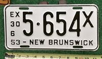 NEW BRUNSWICK - 1953 Quarterly Commercial license plate- excellent orig, tough!