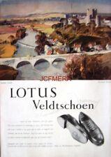 1952 LOTUS Veldtschoen Shoes Advert LUDLOW CASTLE - Rowland Hilder Art Print AD