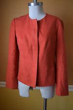 Coldwater Creek S 4 6 Orange Modern Blazer Jacket career EUC casual