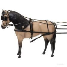 Miniature Horse Leather Tracker Driving Harness (Black or Dark Oil Leather)