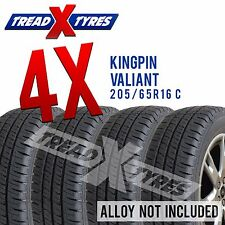 4x New 205/65R16 C Kingpin Tyres 205 65 16 Commercial Van Tyres Four x4