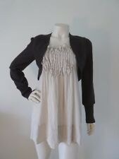 BOO RADLEY TOP Size S 10 8 Wool Blend Built in Bolero