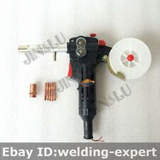 Free Nozzle Tip Toothed MIG Spool Gun Wire Feed Aluminum Welder Welding Torch