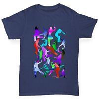 Twisted Envy Boy's Cricket Rainbow Silhouette Cotton T-Shirt
