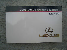 LEXUS LS 430 OWNERS MANUAL OEM