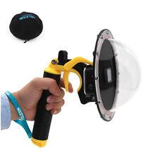 Protective Case+ Diving Lens Dome Port+ Stabilizer Trigger Handgrip for GoPro 5