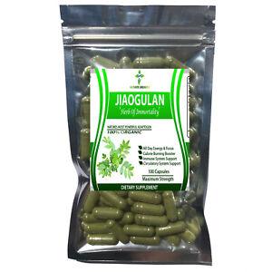 Organic JIAOGULAN / GYNOSTEMMA Pentaphyllum Pure High Potency 100 Capsules