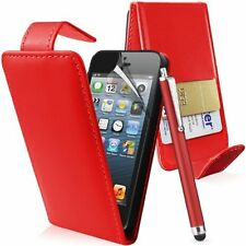 RED FLIP CASE POUCH PU LEATHER COVER WALLET FOR IPHONE 3 3G 3GS
