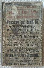 RARE 1888-89 NO. 7, YEAR OF INCORPORATION WOONSOCKET RI CITY DIRECTORY GENEOLOGY
