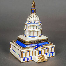 Classic Collectibles Ceramic U. S. Capitol Trinket Box Dated 1996