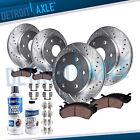 Front & 325mm Rear Brake Rotor + Brake Pad for Chevy Silverado Sierra 1500 Brake