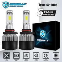 IRONWALLS 9005 HB3 COB LED Headlight Kits 1800W 270000LM Bulbs 6000K White Xenon