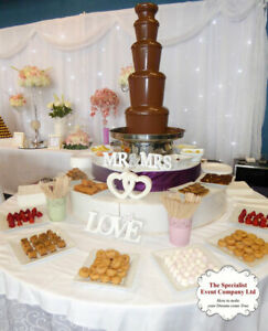 Large 5 tier Chocolate Fountain with LED Base  For HIRE - North West .