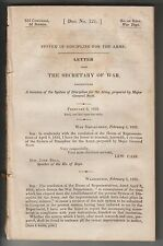RARE 1835 DOCUMENT - SYSTEM OF DISCIPLINE FOR THE ARMY - WINFIELD SCOTT