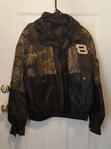 Dale Earnhardt Jr Camo & Leather Sz 2XL Jacket   NWOT