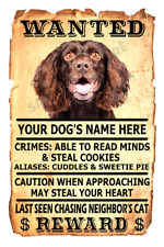 Boykin Spaniel Dog Wanted Poster Flex Fridge Magnet Personalized