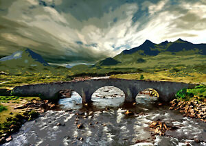 Sligachan Old Bridge Isle of Skye Scotland Limited Art Print by Sarah Jane Holt