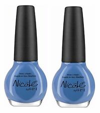 LOT OF 2 - NICOLE by OPI Nail Polish/Lacquer I SEA YOU AND RAISE YOU Light Blue