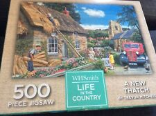 WH SMITH LIFE IN THE COUNTRY - A new thatch - 500 Piece Jigsaw
