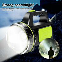 Strong LED Searchlight Rechargeable Flashlight Worklight Outdoor Security Lamp