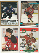 1989 TO 2014...NEW JERSEY DEVILS...LOT OF 133 CARDS...INCLUDES 8 RC'S