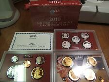 2010 Silver Proof Set Fabulous 14 Coin Set W/ Cert and Box