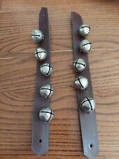 Vintage Sleigh Bells Leather Strap
