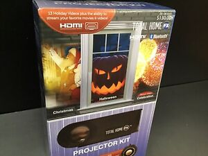 HALLOWEEN CHRISTMAS Total Home FX Projector Kit Animated LED Window NEW