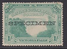 Rhodesia BSAC SPECIMEN MINT 1905 1/- blue-green p14 sg97