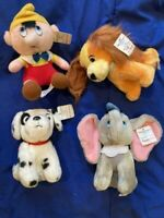 Walt Disney's Animated Film Classic Plush NWT MINT ADORABLE Lot of 4 Vintage