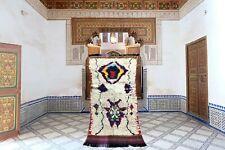 Small Moroccan Rug Vintage Beni Magloud &  Berber Wool Handmade 2,6 x 5,7 feet