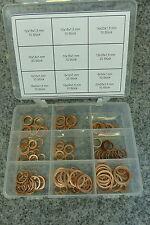 Unterlegscheiben Sortiment Kupfer 150 Stück