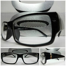 VINTAGE SMART NERD NON PRESCRIPTION Clear Lens EYE GLASSES Black Fashion Frame