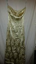 Señoras? Retro Vintage vestido sin tirantes Sedoso Goldy Desperado Londres 32 bolsillos