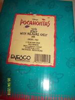 Walt Disney  Enesco POCAHONTAS Percy W/ Treasure Chest Coin Bank NIB 155284