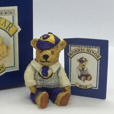 💙 VINTAGE 'PETER FAGAN'S' COLOUR ~ BOX MINI TEDDY BEAR 'MORRIS MINOR' BOXED!