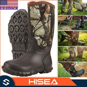 HISEA Men's Boots Waterproof Neoprene Insulated Muck Mud Hunting & Fishing Boots
