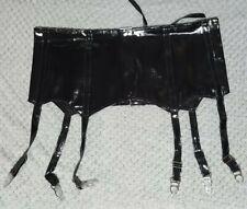 Sexy Black PVC Suspenders/ Lingerie Size UK 8-10 Medium