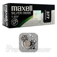 1 x Maxell 377 Silver Oxide battery 1.55V SR66 SR626SW 376 Watches 0% Mercury