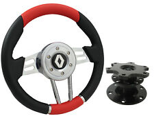 QUICK RELEASE RED V2 SPORTS STEERING WHEEL 310mm - RENAULT